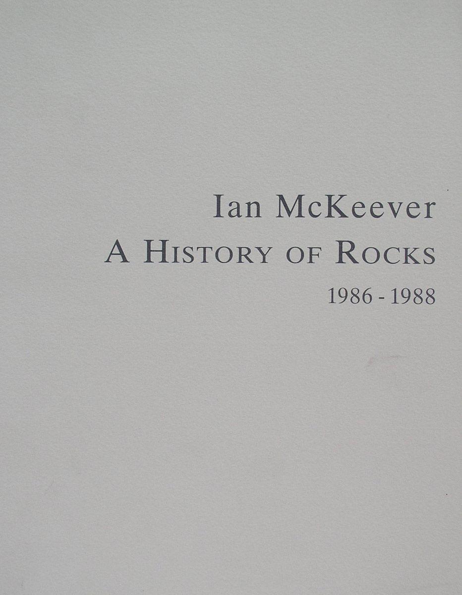 A History of Rocks, 1986-1988